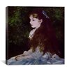 "iCanvas ""Girl with a Blue Ribbon"" Canvas Wall Art by Auguste Renoir"