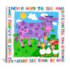 "iCanvas ""I Never Saw a Purple Cow"" Canvas Wall Art by Cheryl Piperberg"