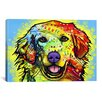 """iCanvas """"Golden Retriever"""" by Dean Russo Graphic Art on Canvas"""