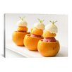 iCanvas Food and Cuisine Ice Cream Balls Inside Oranges Photographic Print on Canvas