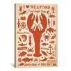 iCanvas 'I Heart Seafood' by Anderson Design Group Graphic Art on Canvas