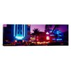 iCanvas Panoramic Hotel lit up at Night, Miami, Florida Photographic Print on Canvas
