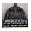 iCanvas Genghis Khan Quote Canvas Wall Art