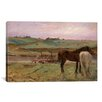 "iCanvas ""Horses in a Meadow 1871"" by Edgar Degas Painting Print on Wrapped Canvas"
