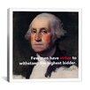 iCanvas George Washington Quote Canvas Wall Art