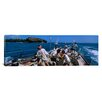 iCanvas Panoramic Group of People Racing in a Sailboat, Grenada Photographic Print on Canvas