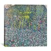 "iCanvas ""Garden Landscape on the Hill"" Canvas Wall Art by GustavKlimt"