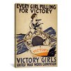 iCanvas Every Girl Pulling for Victory WWI Vintage Advertisement on Canvas