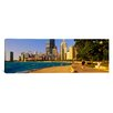 iCanvas Panoramic Group of People Jogging in Chicago, Illinois Photographic Print on Canvas