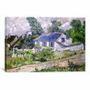 iCanvas 'Houses at Auvers' by Vincent Van Gogh Painting Print on Canvas