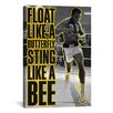 iCanvas Float like a Butterfly Sting Like a Bee by Muhammad Ali Graphic Art on Canvas