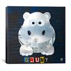 iCanvas Grunt Hippo from Design Turnpike Canvas Wall Art