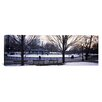 iCanvas Panoramic Frog Pond Skating Rink, Boston Common, Boston, Massachusetts Photographic Print on Canvas