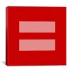 iCanvas Flags Equality Sign, Equal Rights Symbol Graphic Art on Canvas