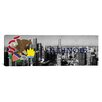 iCanvas Illinois Flag, Chicago Skyline Panoramic Graphic Art on Canvas
