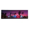 iCanvas Panoramic South Beach Miami, Florida Photographic Print on Canvas