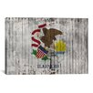 iCanvas Illinois Flag, with Grunge Graphic Art on Canvas