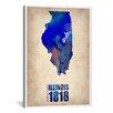 "iCanvas Naxart ""Illinois Watercolor Map"" Graphic Art on Canvas"
