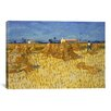 iCanvas 'Corn Harvest in Provence' by Vincent van Gogh Painting Print on Canvas