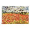 "iCanvas ""Field of Poppies"" by Vincent van Gogh Painting Print on Canvas"