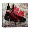 iCanvas Canada Hockey Ice Skates Graphic Art on Canvas