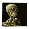 "iCanvas ""Head of a Skeleton with a Burning Cigarette"" Canvas Wall Art by Vincent Van Gogh"