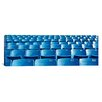 iCanvas Panoramic Empty Blue Seats in a Stadium, Soldier Field, Chicago, Illinois Photographic Print on Canvas