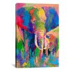 iCanvas Elephant by Richard Wallich Painting Print on Canvas