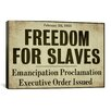 iCanvas 'Emancipation' by Color Bakery Textual Art on Canvas