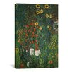 iCanvas 'Farm Garden with Sunflowers 1912' by Gustav Klimt Painting Print on Canvas