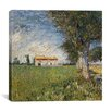 "iCanvas ""Farmhouse in a Wheat Field"" Canvas Wall Art by Vincent van Gogh"