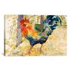 """iCanvas Decorative Art """"Colorful Rooster"""" by Jan Benz Painting Print on Wrapped Canvas"""