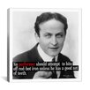 iCanvas Harry Houdini Quote Canvas Wall Art