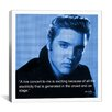 iCanvas Elvis Presley Quote Photographic Print on Canvas