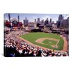 iCanvas Panoramic Home of the Detroit Tigers Baseball Team Comerica Park, Detroit, Michigan Photographic Print on Canvas