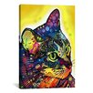"""iCanvas """"Confident Cat"""" by Dean Russo Graphic Art on Canvas"""