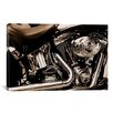 iCanvas Photography Harley Motorcycle Photographic Print on Canvas