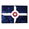 iCanvas Indianapolis Flag, City Skyline Graphic Art on Canvas