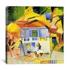 "iCanvas ""Inner Courtyard of the Country House"" Canvas Wall Art by August Macke"