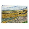 iCanvas 'Enclosed Field with Ploughman' by Vincent van Gogh Painting Print on Canvas