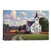 iCanvas 'Conway Church 2' by Randy Van Beek Painting Print on Canvas