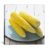 iCanvas Cooked Corn on a Plate Photographic Canvas Wall Art