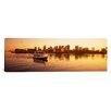 iCanvas Panoramic Ferry Moving in the Sea, Boston Harbor, Boston, Massachusetts Photographic Print on Canvas