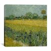 iCanvas 'Field with Flowers Near Arles' by Vincent van Gogh on Canvas
