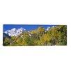 iCanvas Panoramic Maroon Bells, Aspen, Colorado Photographic Print on Canvas