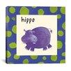 iCanvas Hippo from Esteban Studio Collection Canvas Wall Art