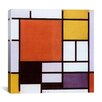 iCanvas 'Composition with Large Red Plane, Yellow, Black, Gray and Blue 1921' by Piet Mondrian Graphic Art on Canvas