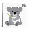 iCanvas Kids Children K is for Koala Graphic Canvas Wall Art