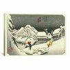 iCanvas Ando Hiroshige 'Kambara' by Utagawa Hiroshige l Graphic Art on Canvas