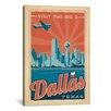 iCanvas 'Dallas, Texas' by Anderson Design Group Vintage Advertisement on Canvas